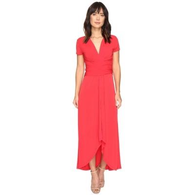 マイケルコース ワンピース トップス レディース Short Sleeve Maxi Wrap Dress True Red