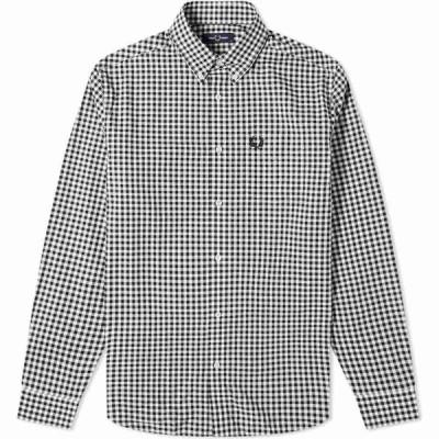 フレッドペリー Fred Perry Authentic メンズ シャツ トップス button down gingham shirt Black