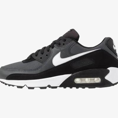 ナイキ メンズ 靴 シューズ AIR MAX 90 - Trainers - black/white/metallic silver
