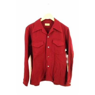 ブレント BRENT 50S ウールオープンカラーシャツ レディース M 中古 古着 210727