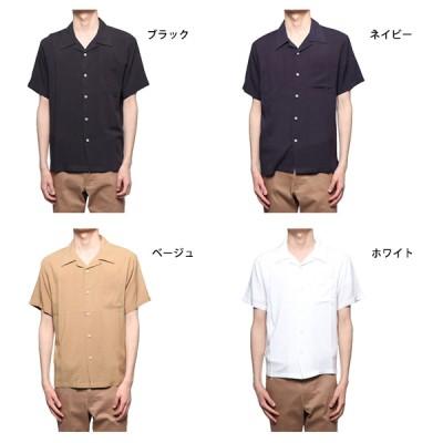 無地半袖オープンカラーシャツ(ベージュ×LL)