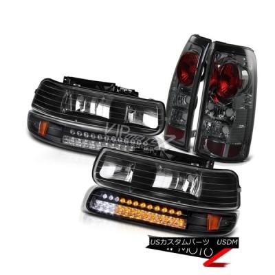 ヘッドライト 2000-2006シボレー郊外のタホ煙FoglightブラックLEDバンパーシグナルヘッドライト 2000-2006 Chevy Sub