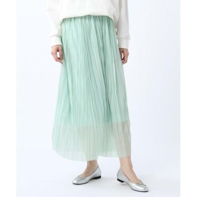 UNTITLED/アンタイトル 【洗える】シアープリーツスカート ライトグリーン(021) 01(S)