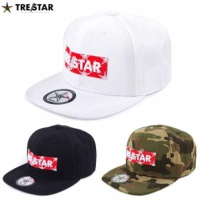 TRE☆STAR トレスター ベースボールキャップ ボックスロゴ 帽子 星 メンズ レディース 黒 白 迷彩