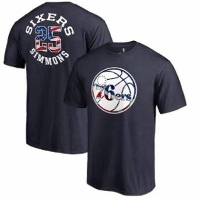 Fanatics Branded ファナティクス ブランド スポーツ用品  Fanatics Branded Ben Simmons Philadelphia 76ers Navy Banner Wave Name & N