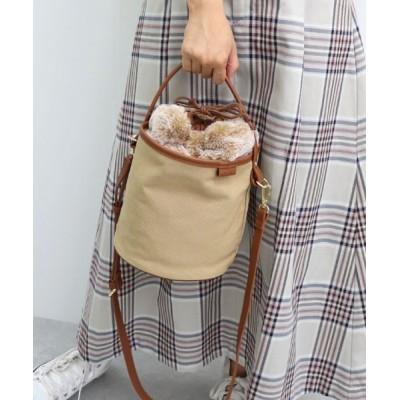 TRYSIL / エコファー巾着付きバケツ2WAYバッグ WOMEN バッグ > ショルダーバッグ