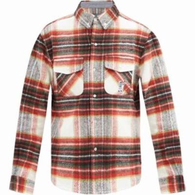 ビリオネアボーイズクラブ Billionaire Boys Club メンズ シャツ トップス Checked brushed shirt Red