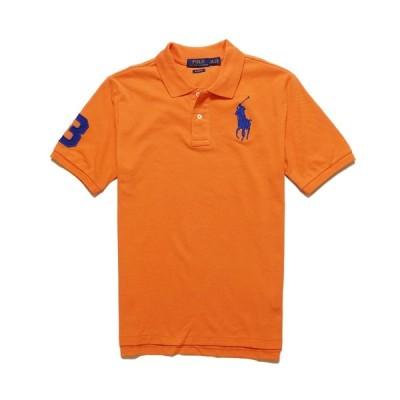 ポロ ラルフローレン POLO RALPH LAUREN ボーイズ BOYS 半袖 ポロシャツ ビッグポニーBig Pony Cotton Mesh Polo Shirt コナ オレンジ Kona Orange