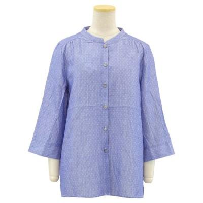 ダブルガーゼ 綿100 7分袖 ブラウス●婦人 シニアファッション 春夏 70代 80代 90代 介護 母の日 敬老の日