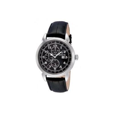 腕時計 インヴィクタ メンズ Invicta12213 ビンテージ スイス クロノグラフ ブラック ダイヤル ブラック レザー 腕時計