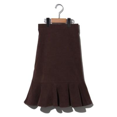 plume blanche[ベビー&キッズ] (プリュムブランシュ) フレア切り替えスカート ブラウン 140