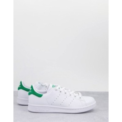 アディダス レディース スニーカー シューズ adidas Originals Vegan Stan Smith sneakers in white and green White
