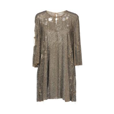 .AMEN. ミニワンピース&ドレス サンド 42 ナイロン 100% / ポリ塩化ビニル / ガラス / 金属 ミニワンピース&ドレス