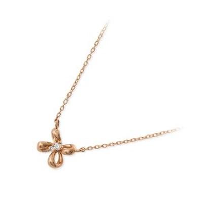 ネックレス レディース WISP ゴールド ピンクゴールド 花 ダイヤモンド 4月の誕生石 誕生日プレゼント ギフト