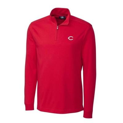 シンシナティ・レッズ Cutter & Buck Belfair Half-Zip Pullover ジャケット - Red