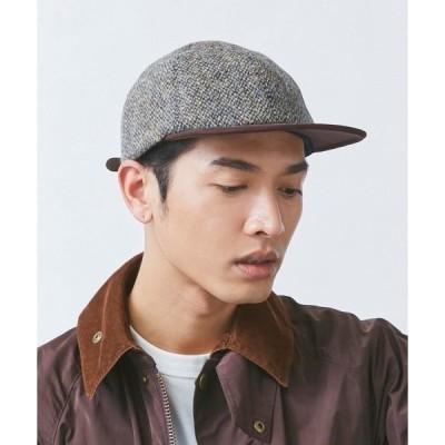 帽子 キャップ 【OVERRIDE】  HARRIS TWEED BALL CAP / 【オーバーライド】 ハリスツイード ボールキャップ