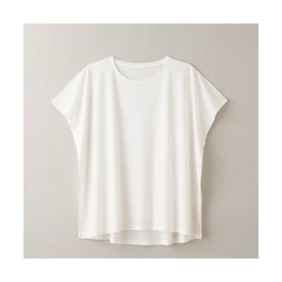 【竹布特典】スクエアフレンチTシャツ(Lady's)オフホワイト M〜L 【ナファ生活研究所】