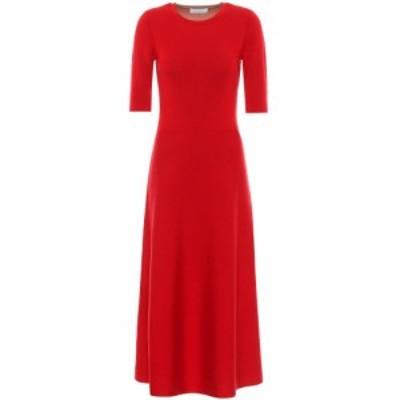 ガブリエラ ハースト Gabriela Hearst レディース ワンピース マキシ丈 ワンピース・ドレス Seymore wool-blend maxi dress Red/Camel