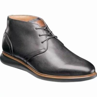 フローシャイム ブーツ Fuel Plain Toe Chukka Gray Leather/Black Sole