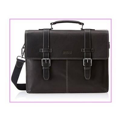 """【送料無料】Kenneth Cole Reaction Colombian Leather 16"""" Laptop Business Portfolio, Black【並行輸入品】"""