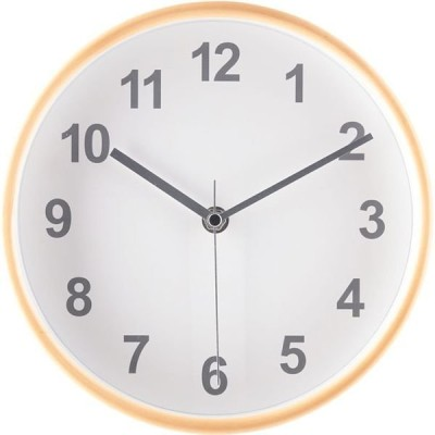 不二貿易不二貿易 プライウッド 掛け時計 直径22mm ホワイト 27360 1個(直送品)