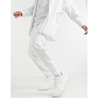 エイソス メンズ カジュアルパンツ ボトムス ASOS DESIGN co-ord organic oversized sweatpants in white marl Oatmeal marl