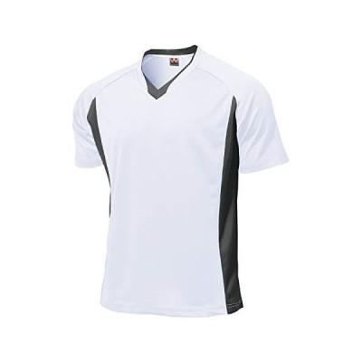 wundou(ウンドウ) ベーシック サッカー シャツ P1910 ホワイト L 吸汗速乾 Vネック 半袖
