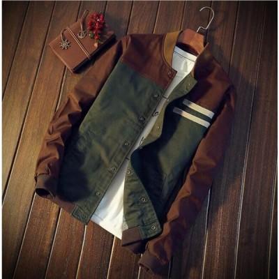 2色 メンズ メンズジャケット ミリタリージャケット コーチジャケット ウィンドブレーカー  ブルゾン ジャンパー  スタジャン  立て襟