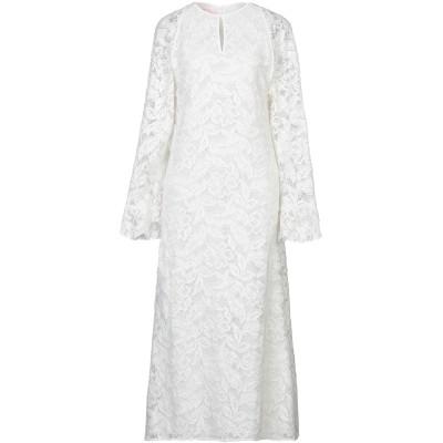 ジャンバ GIAMBA ロングワンピース&ドレス ホワイト 40 コットン 80% / ナイロン 20% ロングワンピース&ドレス