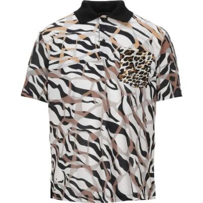 ロベルト カヴァリ ROBERTO CAVALLI メンズ ポロシャツ トップス polo shirt White