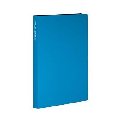 SEKISEI アルバム ポケット フォトアルバム 高透明 KGサイズ 80枚収容 ハガキ 51~100枚 ブルー KP-80P