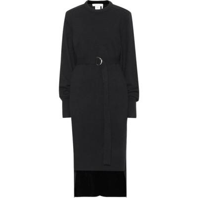 クロエ Chloe レディース ワンピース ミドル丈 ワンピース・ドレス cashmere midi dress Black