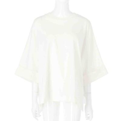 Alluge オーガニックコットンバック刺繍ビッグTシャツ(オフホワイト)