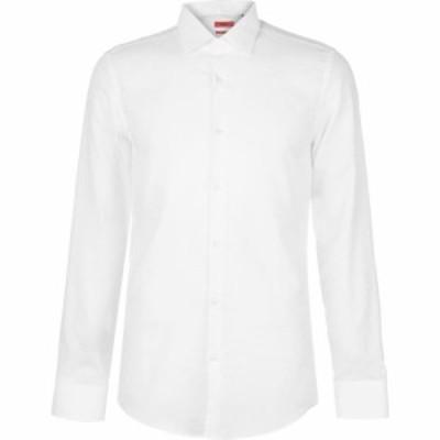 ヒューゴ ボス Hugo メンズ シャツ トップス Plain Shirt White