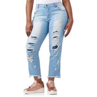エッセンシャルズ Essentials レディース ジーンズ・デニム ボトムス・パンツ plus rip and repair frayed jeans Medium Blue Wash