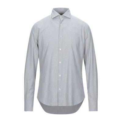 ブルックスフィールド BROOKSFIELD シャツ グレー 44 コットン 97% / ポリウレタン 3% シャツ