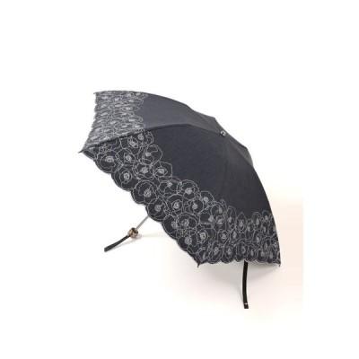 NINA RICCI NINA RICCI 刺繍フラワー UV遮光晴雨兼用パラソル 折りたたみミニ傘 NR27154-54