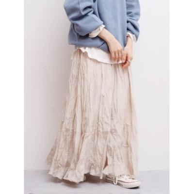 【アングリッド/Ungrid】 ランダムプリーツマキシスカート