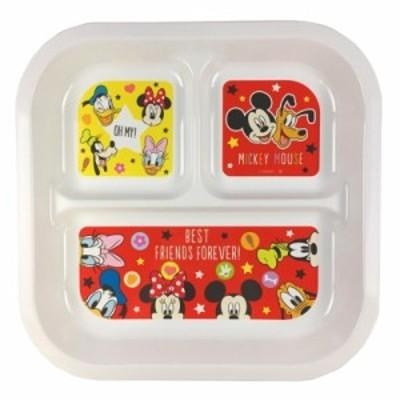 ディズニー スクエアランチプレート ミッキー&ミニーS5 【ランチプレート】【食器】【ワンプレート】【Disney】