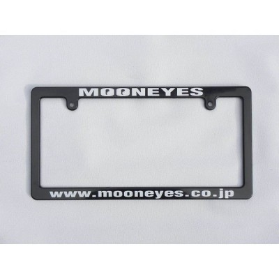 MOONEYES ブラック ライセンス フレーム ホワイト [MG060BKMOW] ムーンアイズ