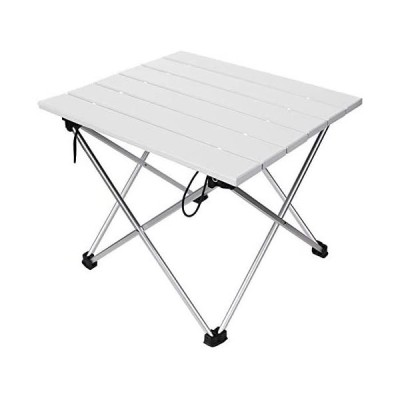 ロールテーブル キャンプ用品 Linkax アルミ製 アウトドアテーブル 耐荷重30kg 専用収納袋付き (折畳テーブル)