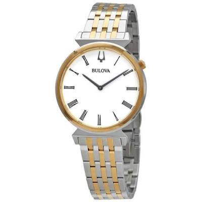 ブローバ 腕時計 Bulova Regatta クォーツ White ホワイト Dial Two-tone メンズ Watch 98A233