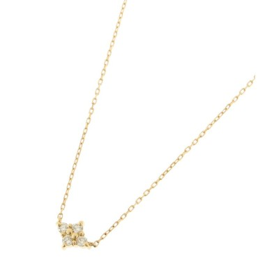 COCOSHNIK(ココシュニック) K18ダイヤモンド フラワーネックレス