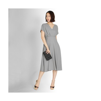 MARTHA(マーサ) ノースリーブカシュクールロングワンピース (ワンピース)Dress