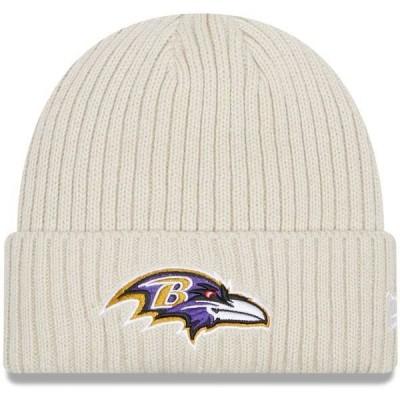 ニューエラ メンズ 帽子 アクセサリー Baltimore Ravens New Era Core Classic Stone Cuffed Knit Hat