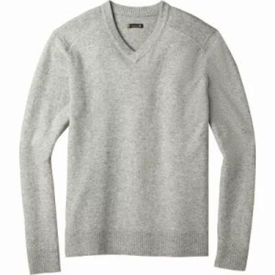 スマートウール ニット・セーター Sparwood V - Neck Sweaters Light Gray Donegal