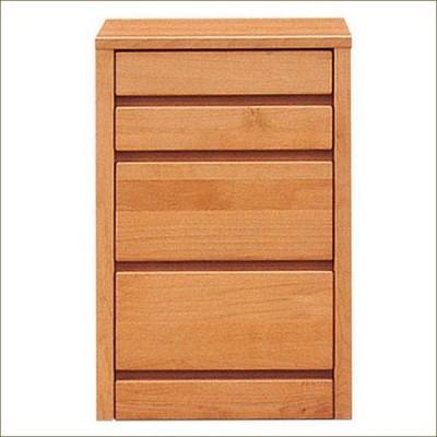 ミニチェスト スリムチェスト 完成品 幅45cm 4段 リビング収納 木製 北欧家具
