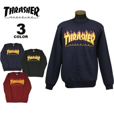 スラッシャー トレーナー THRASHER FLAME CREW SWEAT クルー スウェット メンズ レディース ユニセックス 裏起毛 スエット 全4色 S-XL(公式)