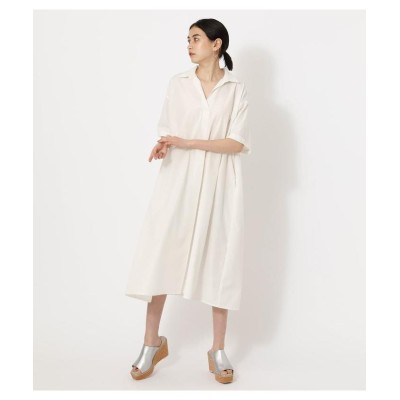 (AZUL by moussy/アズールバイマウジー)SKIPPER FLARE SHIRT ONEPIECE/レディース O/WHT1