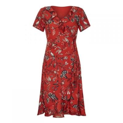 ユミ Yumi レディース ワンピース ワンピース・ドレス Flower And Branch Crossover Dress Rust